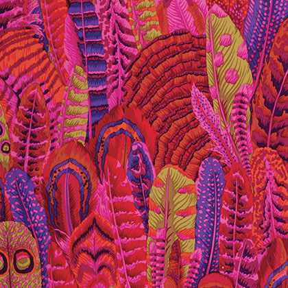 Kaffe Fassett Collective By Philip Jacobs - Feathers - PWPJ055.RED