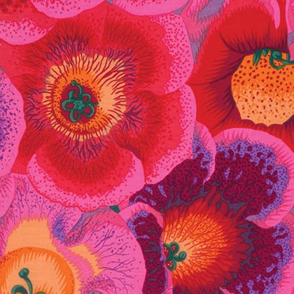 Kaffe Fassett Collective By Philip Jacobs - Gloxinias - Pink PWPJ071