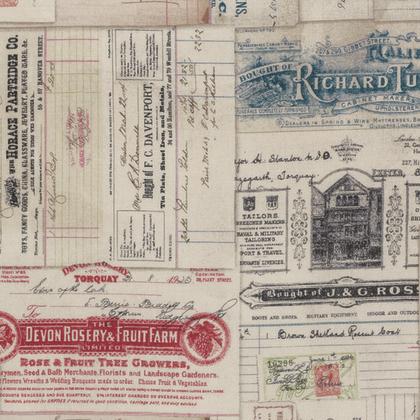 ECLEC- 058 Dapper Vintage Receipts multi