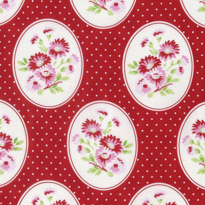 Granny's Wallpaper in Red