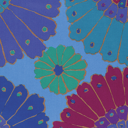 Kaffe Fassett - Backing Fabric -  Carpet - Blue