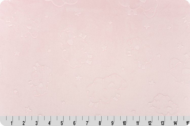 Embossed Lamb Spa Cuddle - Baby Pink (58/60)