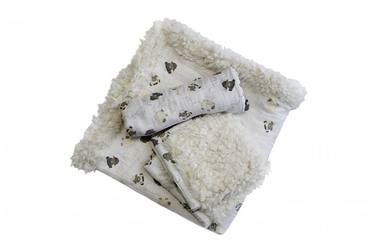 Patty Cakes Swaddle Gift Set Kit Cream Puff
