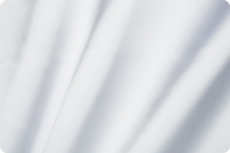 Silky Satin Solid - white  58/60 wide