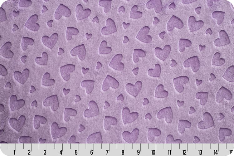 Embossed Heart Cuddle Lilac