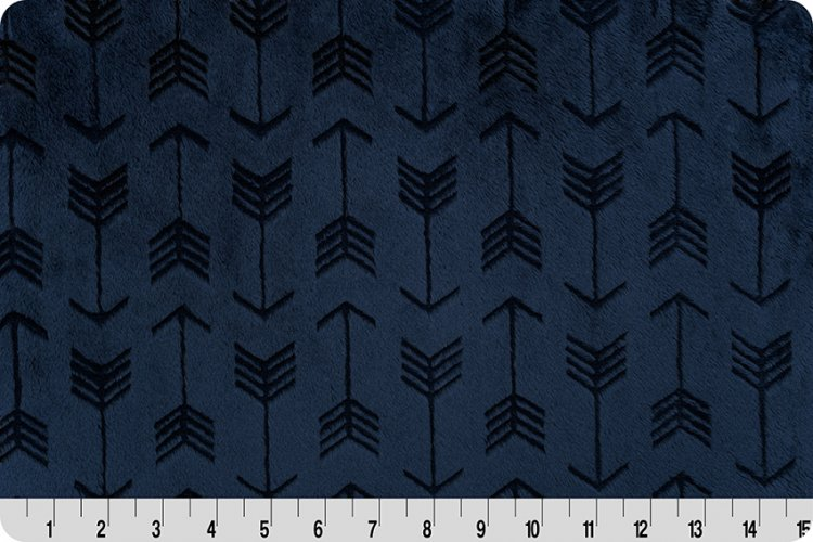 Embossed Arrow Cuddle - Navy