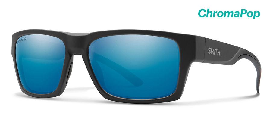 Smith Outlier 2 ChromaPop Sunglasses Men's Matte Black Frame Matte Black Lens