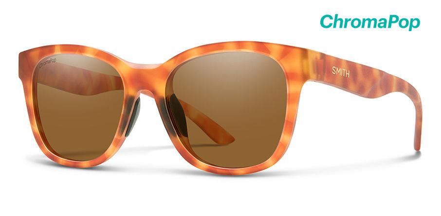 Smith Caper Lifestyle Sunglasses Women's Matte Golden Tortoise Frame Matte Golde...
