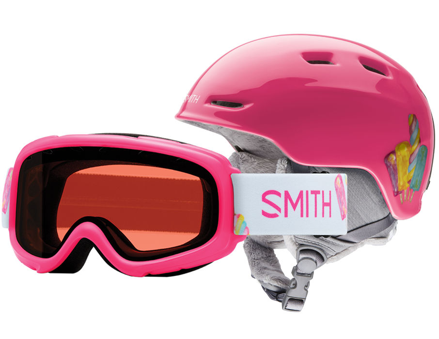 SMITH ZOOM JR. / GAMBLER COMBO PINK SKATES YOUTH MEDIUM