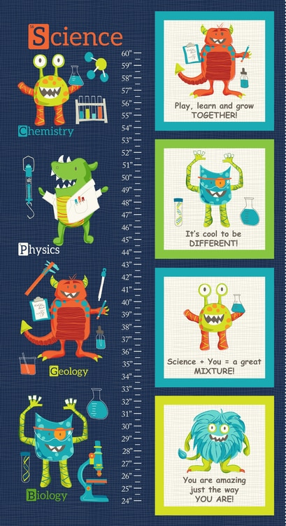 Monster Lab Banner and Block Quilt Panel by Studio E