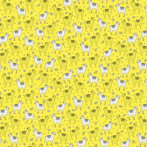 Two by Two Llama Yellow