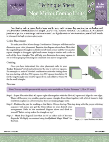 Non Mirror Combo Technique Sheet