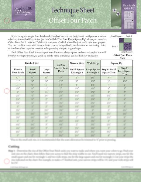 Studio 180 Design Technique Sheet - Offset Four Patch
