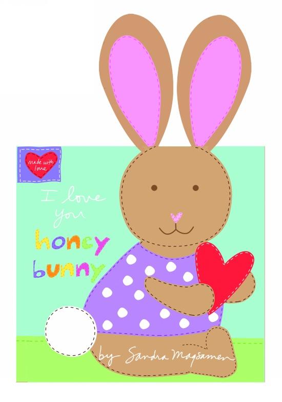Studio E - Huggable & Loveable Book Panel - I love you Honey Bunny