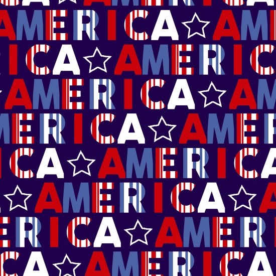 Red, White & Starry Blue  AMERICA