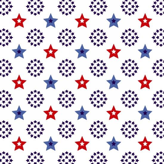Red White & Starry Small Stars White