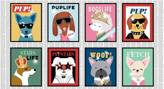 Puparazzi Pup Magazine Cover Panel