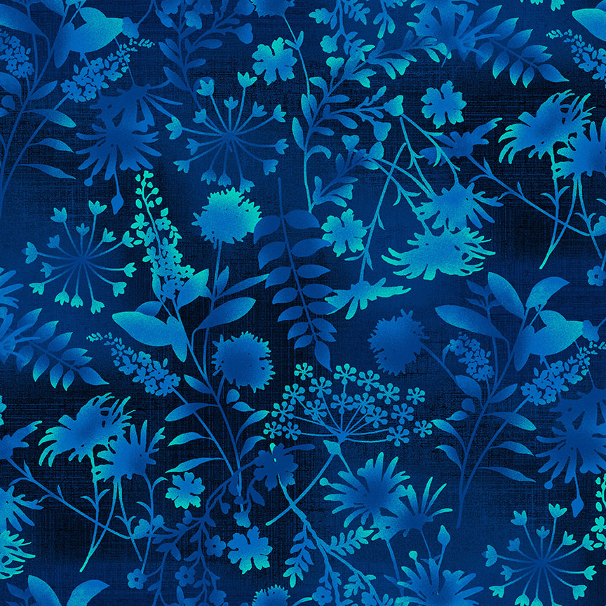 Feather & Flora Midnight Wildflower Toss designed by Elizabeth Isles