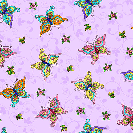Fairyland - Butterfly, 4596-2 Orchid - by Studio E Fabrics