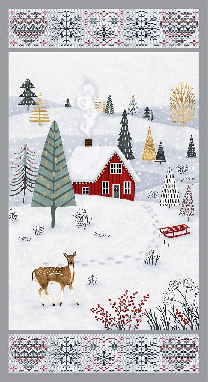 Studio E Snowy Magic Frost Panel 24 inches
