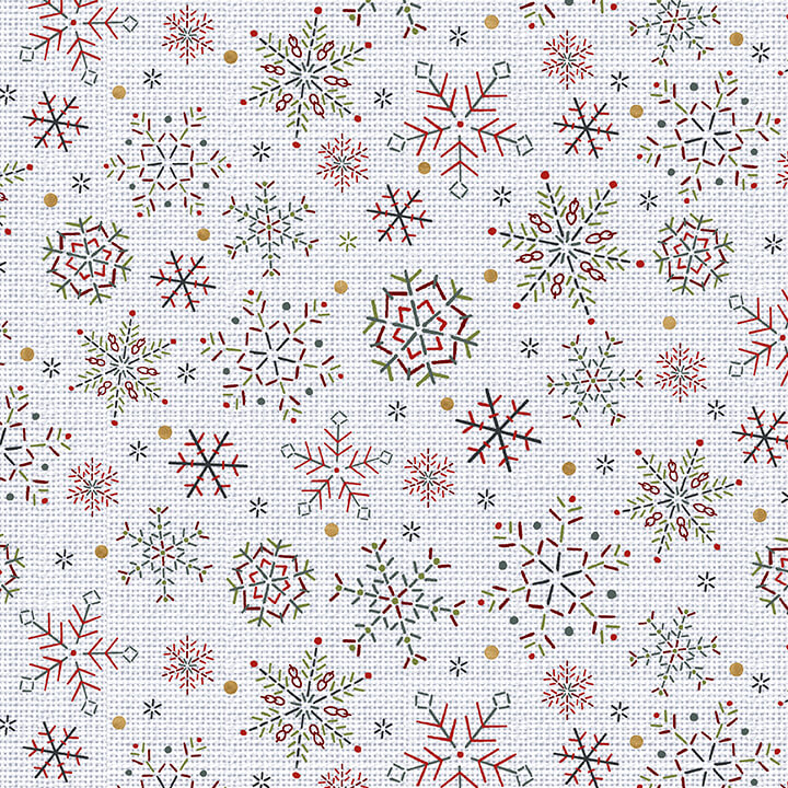 Snowy Magic - colorful snowflakes Frost