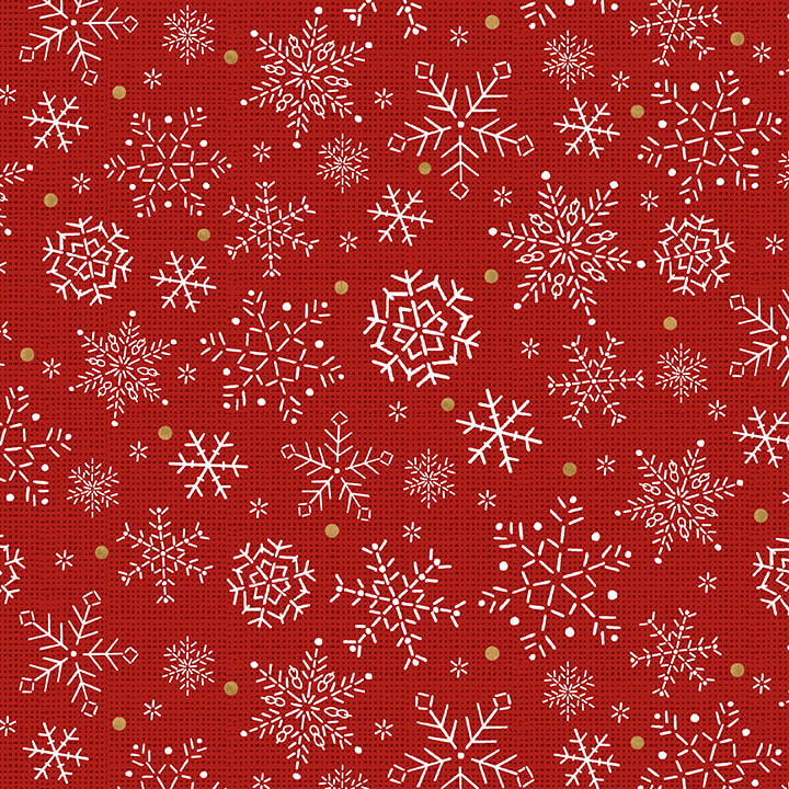 Studio E Snowy Magic Red Snowflakes