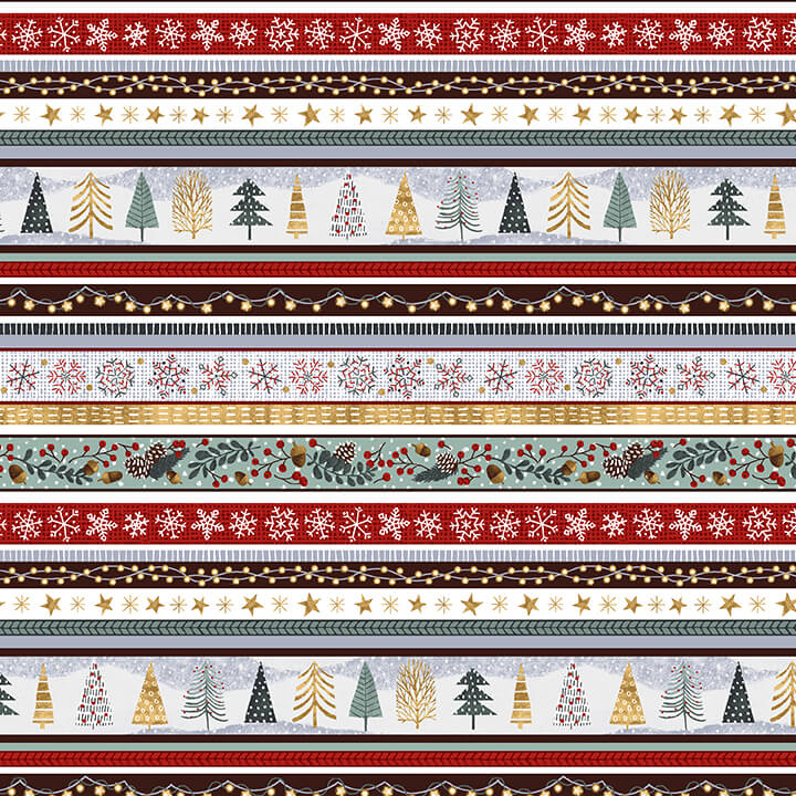 Snowy Magic Stripes