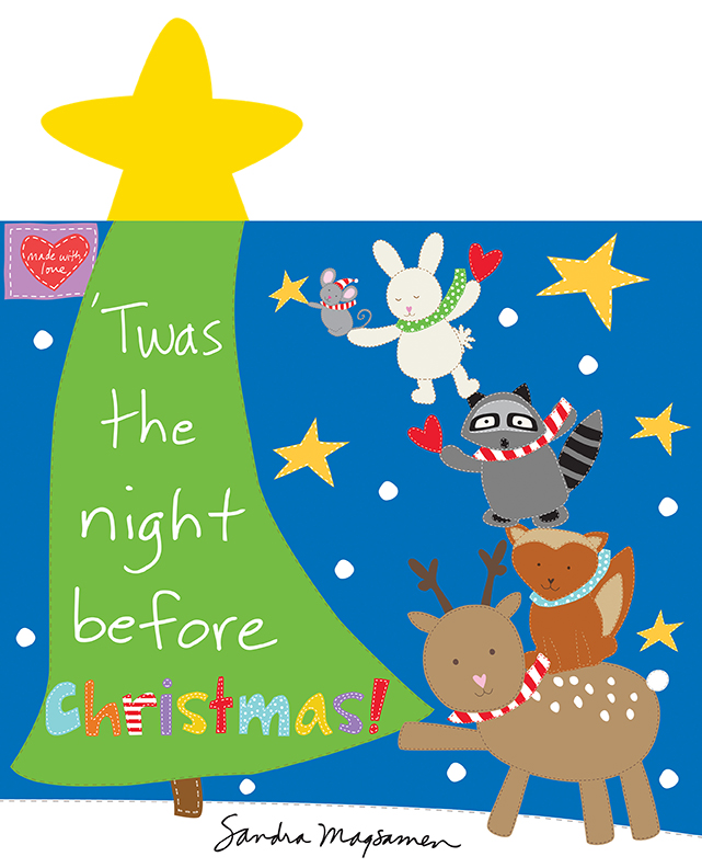 Huggable  - The Night Before Christmas Soft Book Panel 36 x 44 Cotton Fabric Studio E