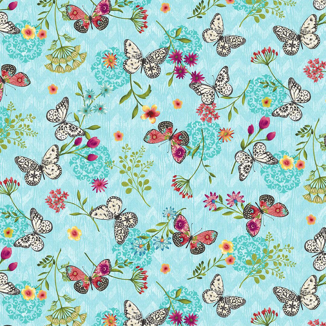 butterfly dreams 4715-17 Blue