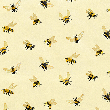 Bee A Keeper - All Over Bees - Cream