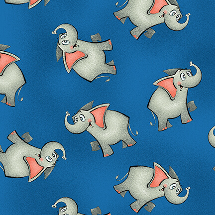 A Jungle Story Elephants A/O Cobalt