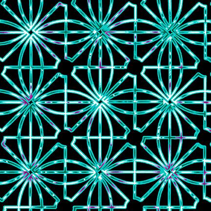 Beauty in Bloom Geometric Black