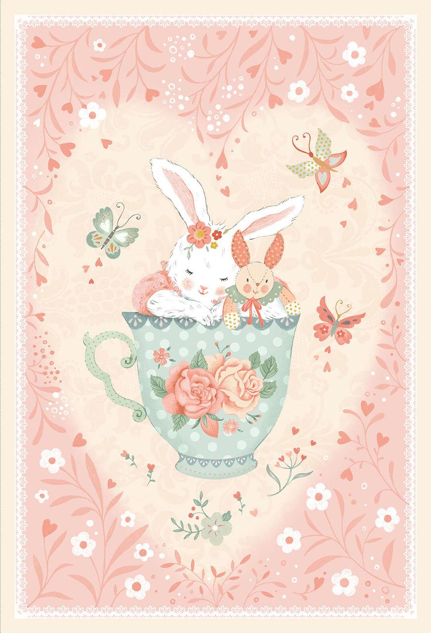 Woodland Tea Time - 30 in. Panel - Studio E - 4833P-22 Pink - 703081214662
