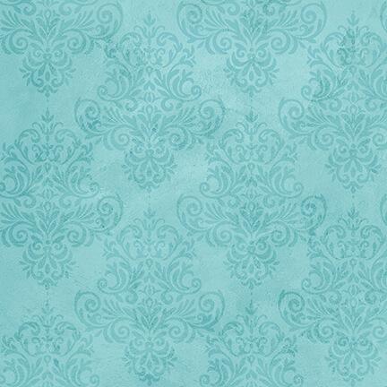 4859-60 Aqua blue print