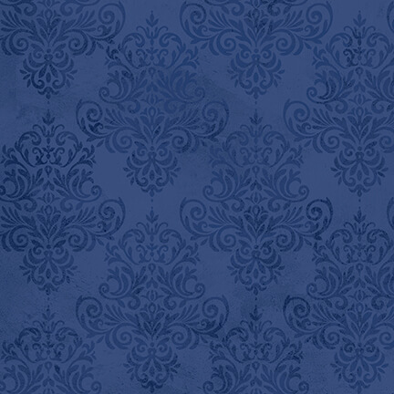 Coastal Dreams Tonal Damask - Navy