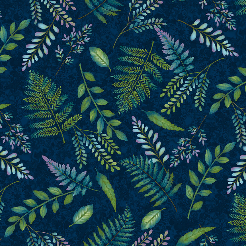 Woodland Wonders - Navy Fern Toss