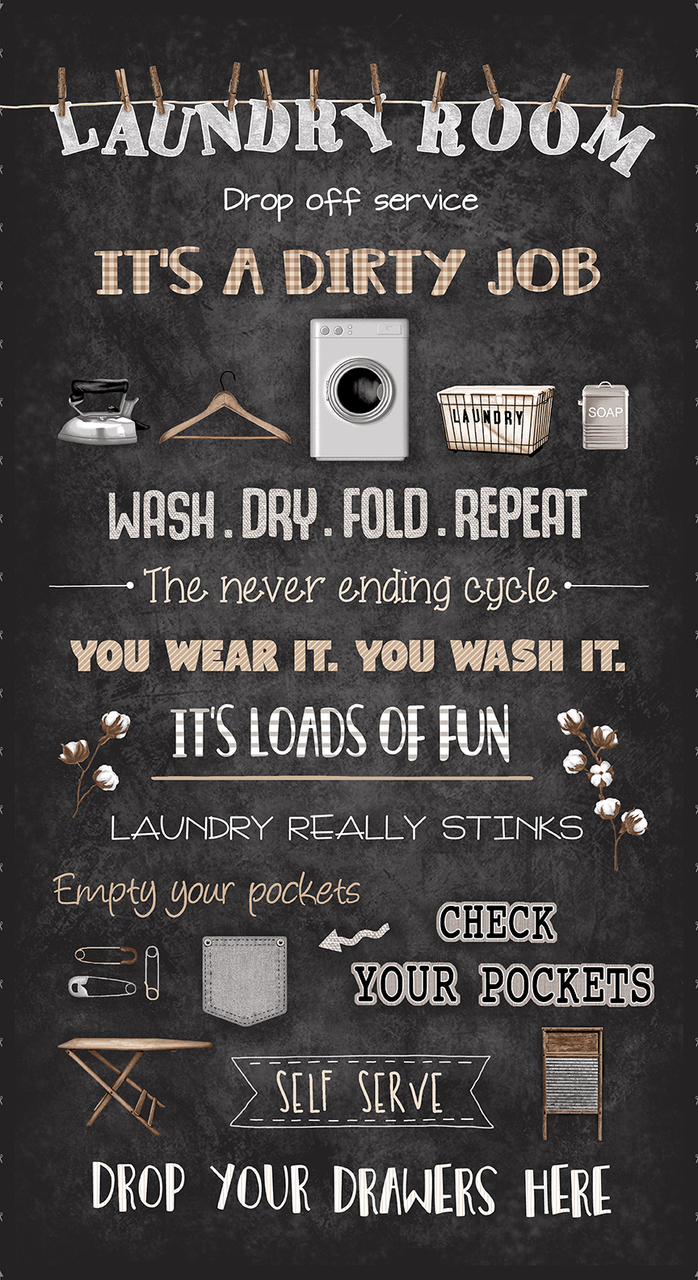 Loads of Fun Chalkboard Laundry Panel