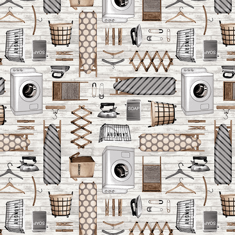 Laundry Icons/Gray and Taupe: Loads of Fun (Chelsea Designworks)