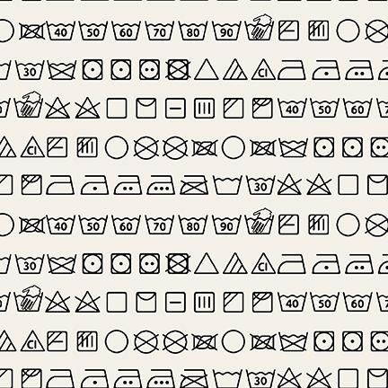 Care Symbols Black on White