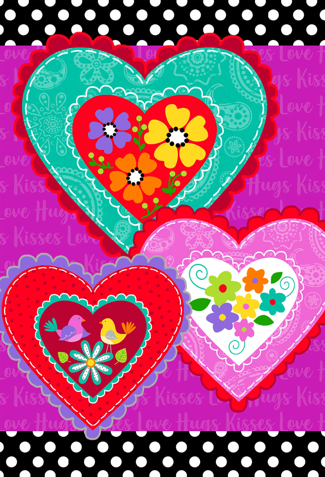 30 Inch Heart Panel Love is Forever 4934P-92 Multi