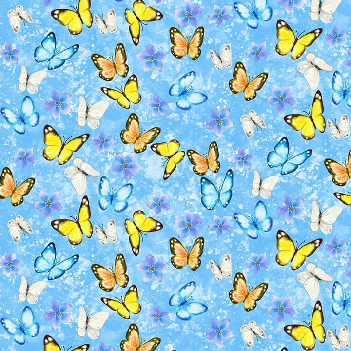 Studio E Blue Butterflies