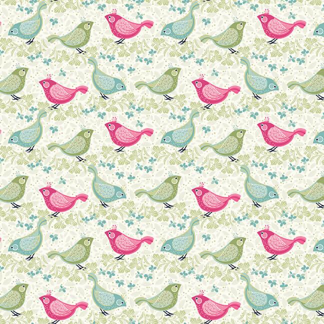 BOHO BLOOMS BIRDS CREAM