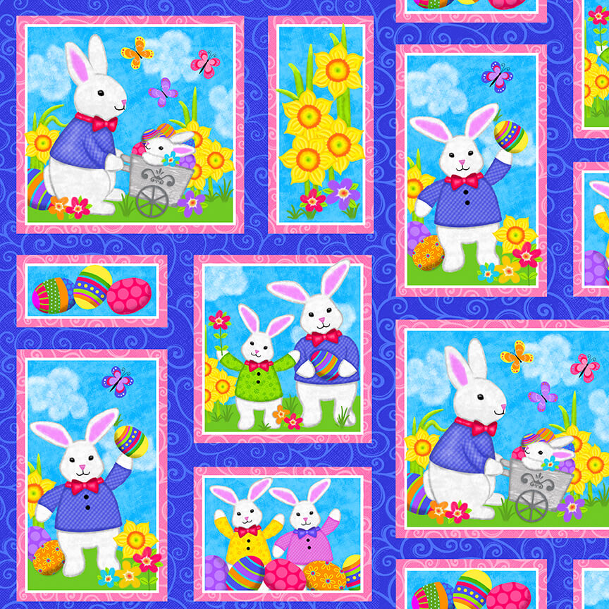 Easter Bunny Patches:  Hello Spring by Sharla Fults for Studio E Fabrics