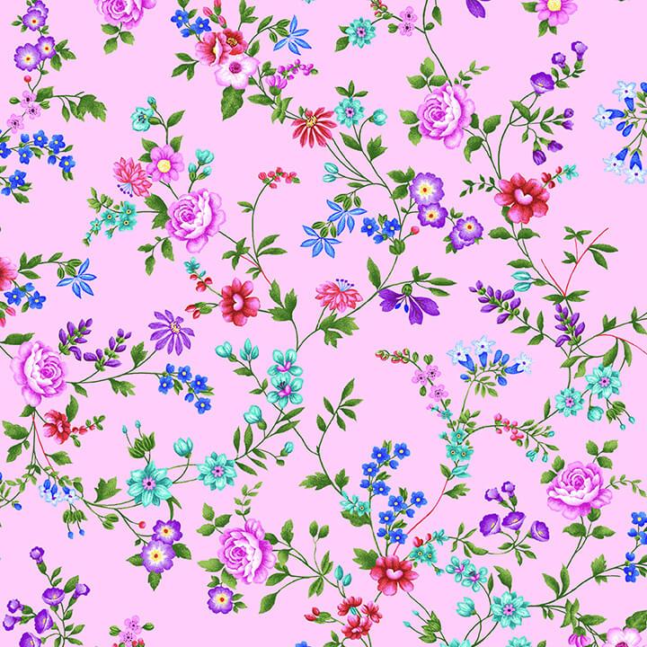 Sweet Perfume - Pink Floral Vine