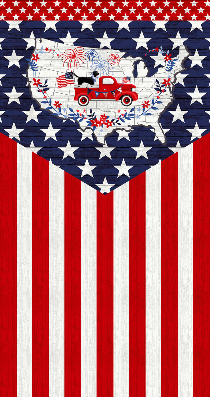 Truckin in the USA Patriotic 24 Flag Panel designed by DesignWorks