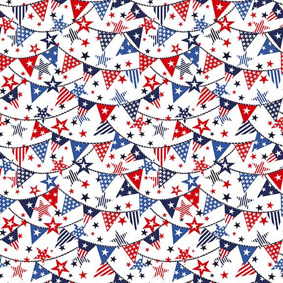 Truckin' in the USA-Mini Banners-White