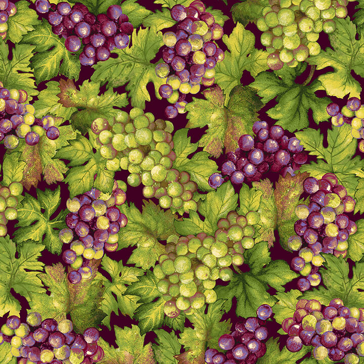Vineyard - Grapes Green & Purple