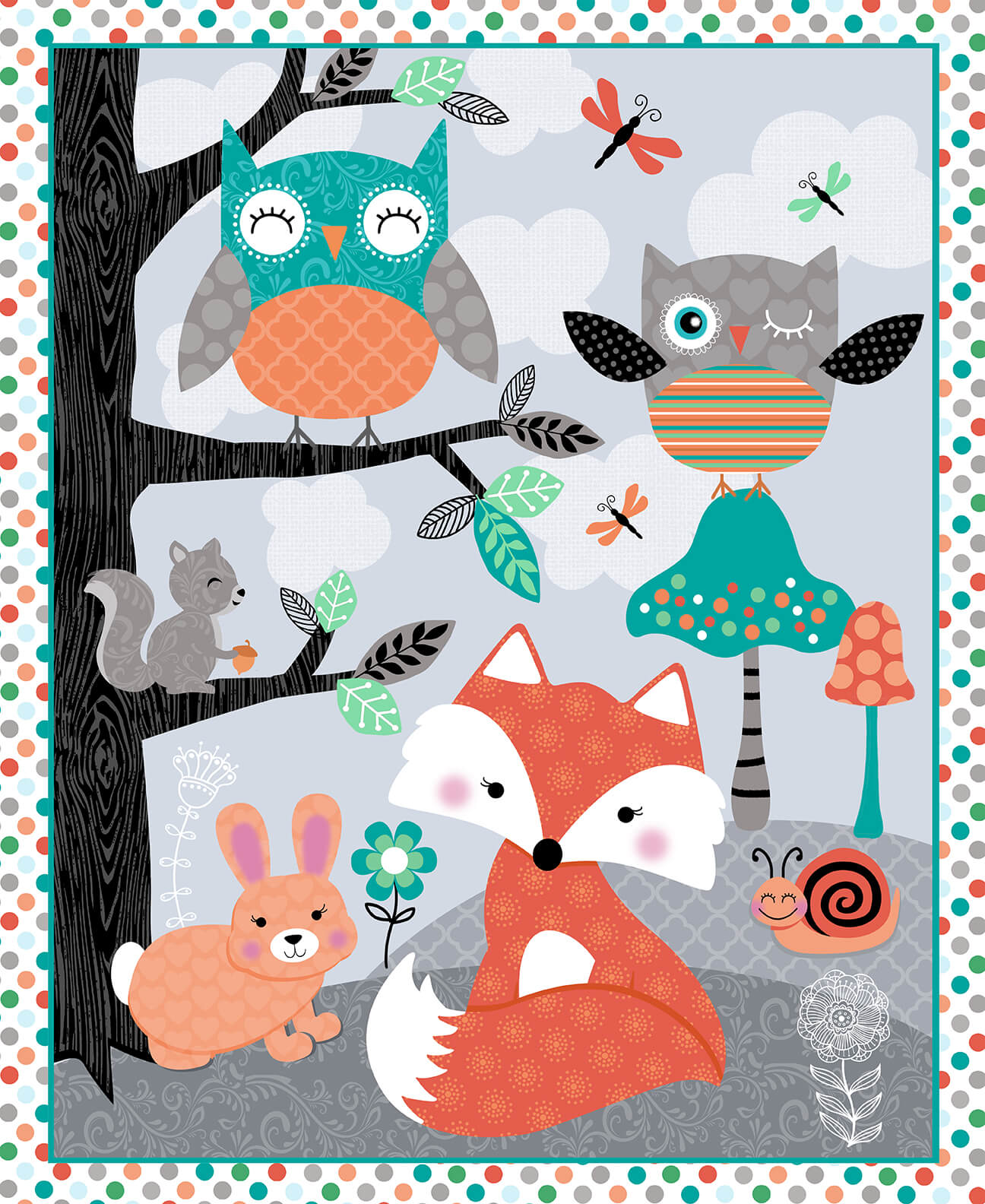Studio e Owls Woodland Adventure Panel