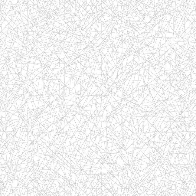 Cream & Sugar White Geometric Lines