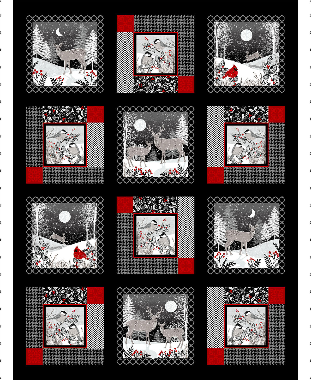 5133P-95 Black/Red  Middwinter Song